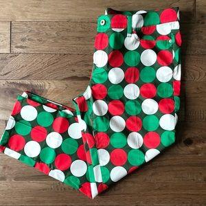 LOUDMOUTH Jingle Balls women's golf pants 14